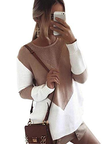 Alsol Lamesa Women's Pullover Sweaters Crew Neck Long Sleeve Casual Knit Sweater image