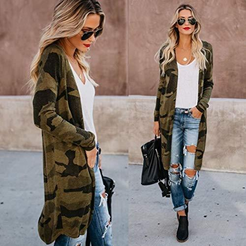 Women Cardigan Casual Long Sleeve Tops Printed Loose Open Front Outwear Autumn Maxi Sweater Coat Kimono Spring Breathable