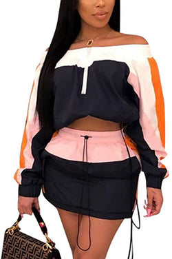 ksotutm Women 2 Piece Outfits Lightweight Windbreaker Jacket Top + High Waist Shorts Plus Size Tracksuit Jumpsuits