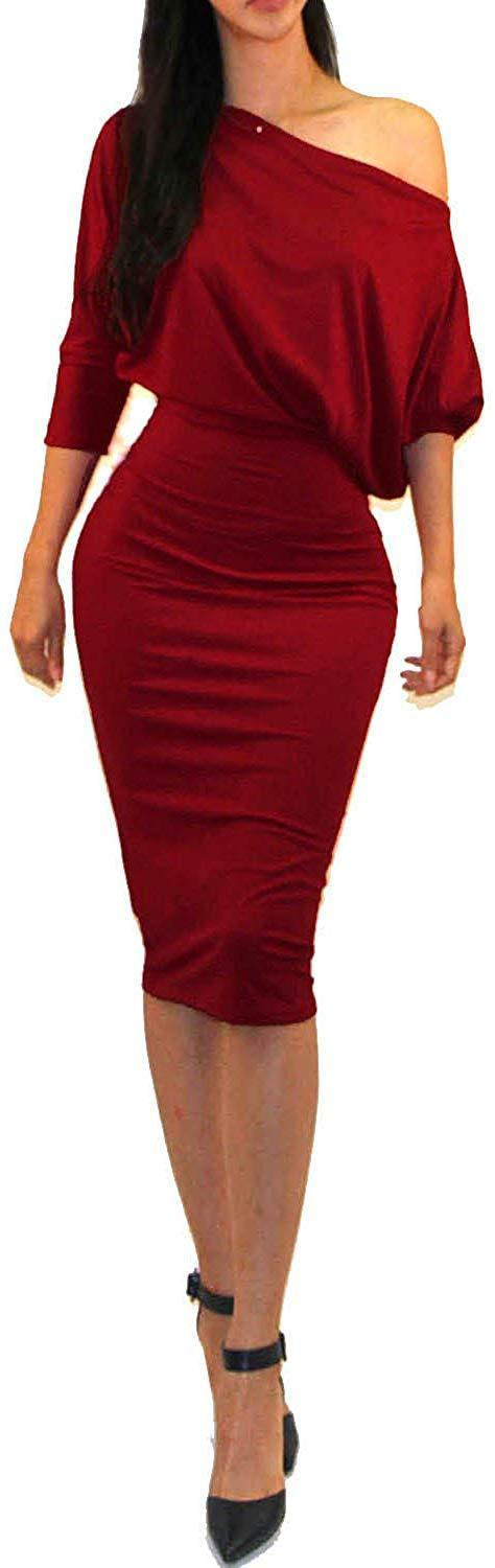 Vivicastle Women's USA Wear to Work Business 3/4 SLV Bodycon Pencil Dress