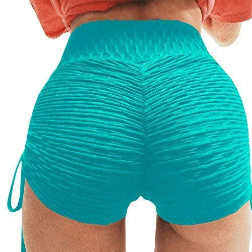 chimikeey Womens Butt Lift High Waist Ruched Workout Yoga Gym Shorts Leggings