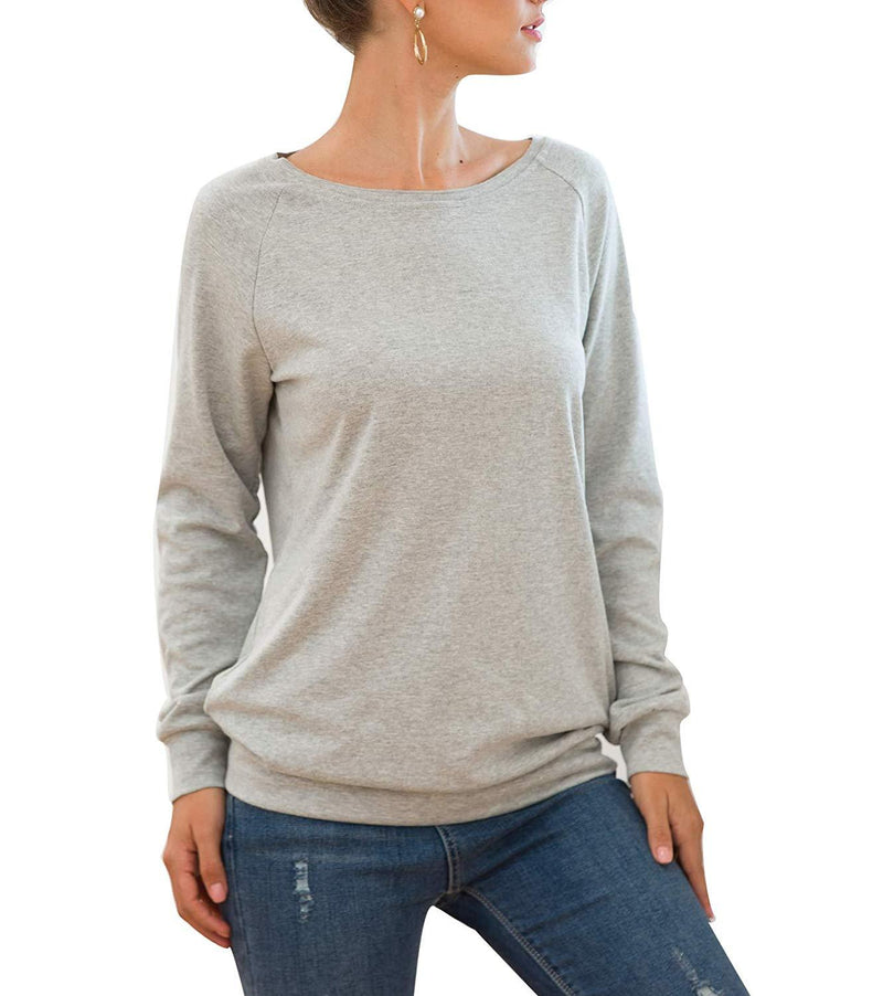 Mingriya Women Long Sleeve Tunic Tops Casual Lightweight Pullovers Sweatershirt