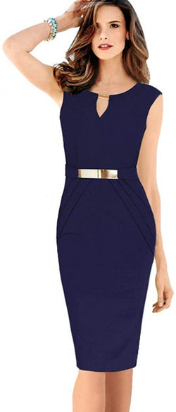Eyouth Women's Classic Sleeveless Pencil Wear to Work Dresses