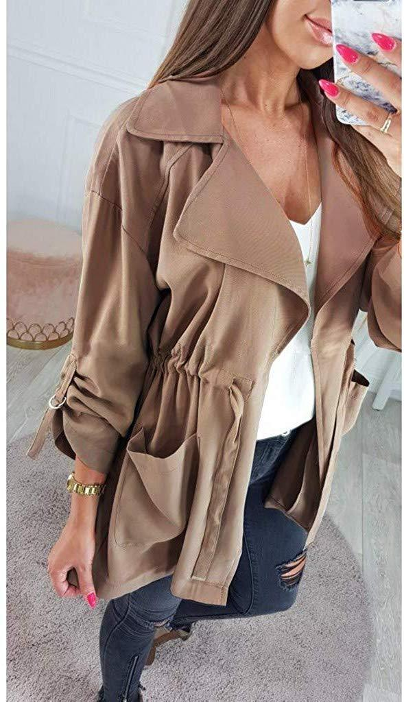 Shimigy Womens Ladies Casual Thin Coat Jacket Lapel Winter Short Outerwear Tops