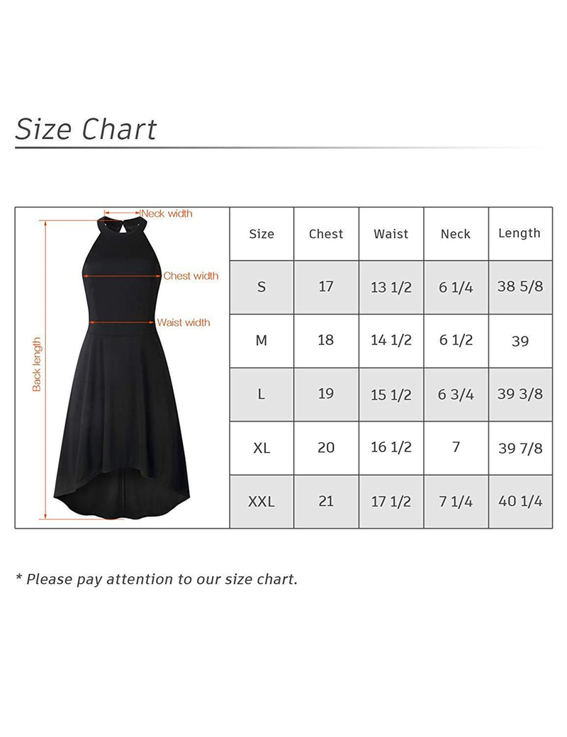 MOCRIS Women's Halter Neck A-Line Semi Formal Sleeveless Backless Cocktail Party Skater Dresses