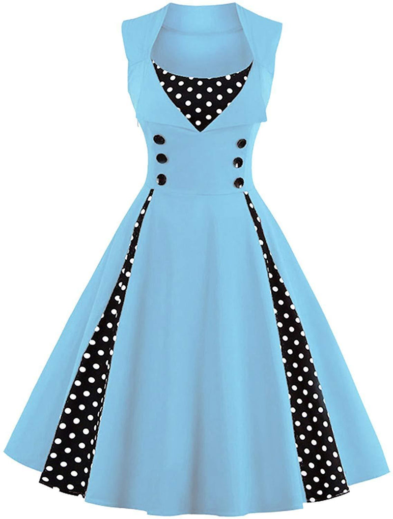 Killreal Women's Polka Dot Retro Vintage Style Cocktail Party Swing Dresses