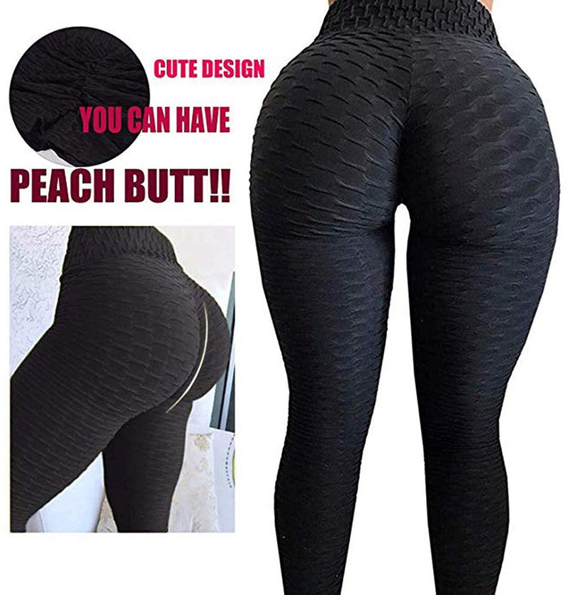 HLZKU Anti-Cellulite Compression Leggings, Women's High Waisted Yoga Pants Mesh Fat Burner Running Tights