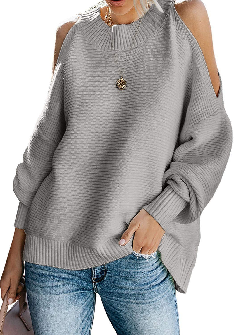 Asvivid Womens Turtleneck Long Sleeve Chunky Knit Pullover Sweater Tops