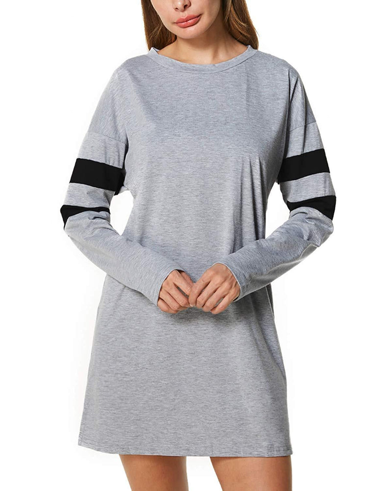 Dorimis Women Knit Sweater Long Sleeve Side Zipper Loose Casual Tunic Tops Mini Shirt Pullover Dresses