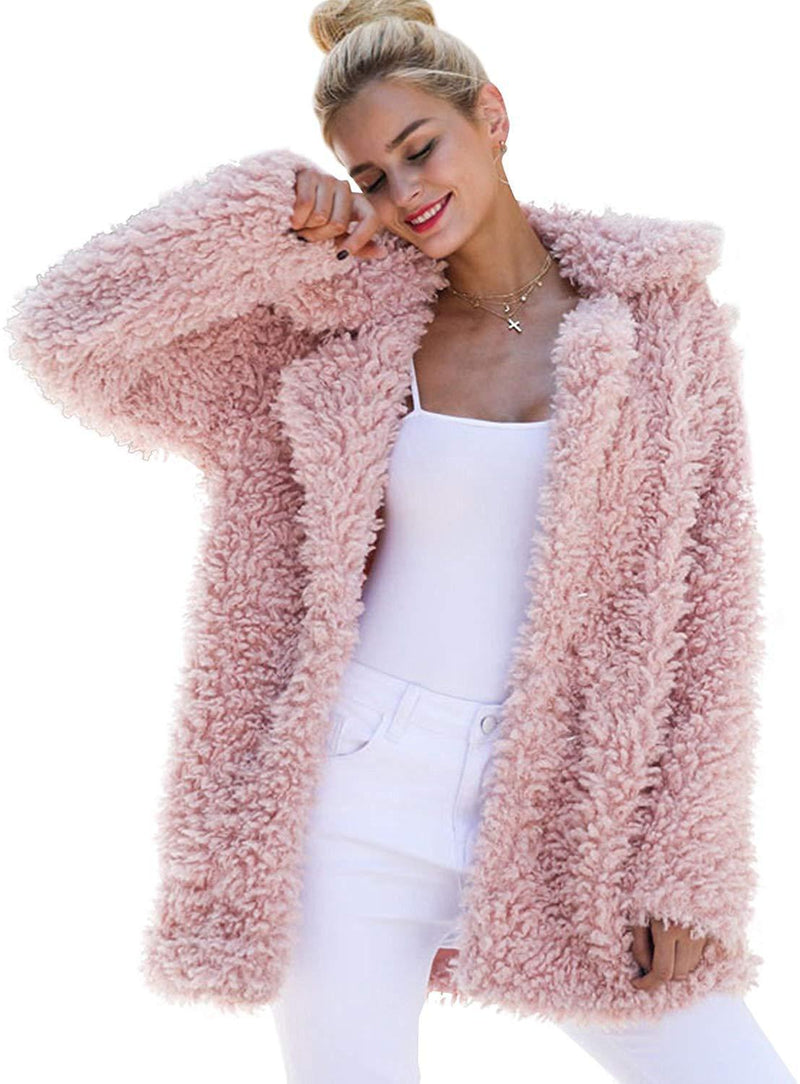 BerryGo Women's Shaggy Long Faux Fur Coat Jacket Outwear