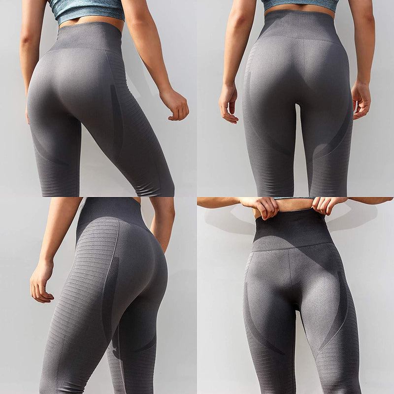 VISNXGI Workout Yoga Pants for Women High Waist Athletic Compression Ankle Length Leggings with Gym Sport 1