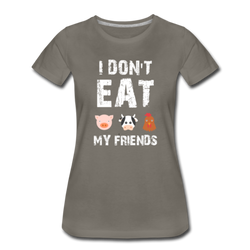 I Don't Eat My Friends Friends Not Food Funny Veganis T-Shirt Funny
