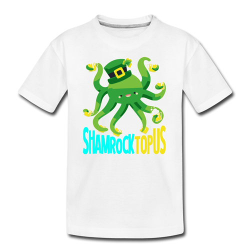 Funny Kids Octopus Shirt St Patricks Day Green