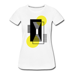 Conceptual Geometric Shapes T-shirt Women's Premium Graphic Tee