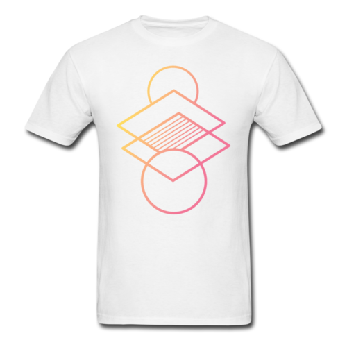 Men's Geometric Gradient Abstract T-shirt Graphic Tee