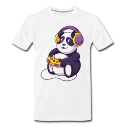 Gaming Panda Bear T-shirt Men's Funny Animal Graphic Premium Tee