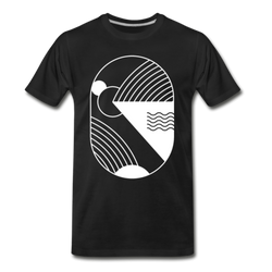 Minimal Abstract T-shirt Men's Premium Circle Graphic Tee