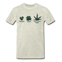 Hemp Leaf Funny T-shirt Men's Premium Funny Lucky Graphic Tee