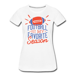 Football Season T-shirt Women's Premium Funny Graphic Tee