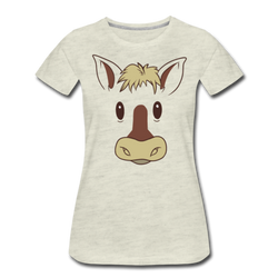 Horse Face T-shirt Women??s Premium Funny Graphic Animal Tee