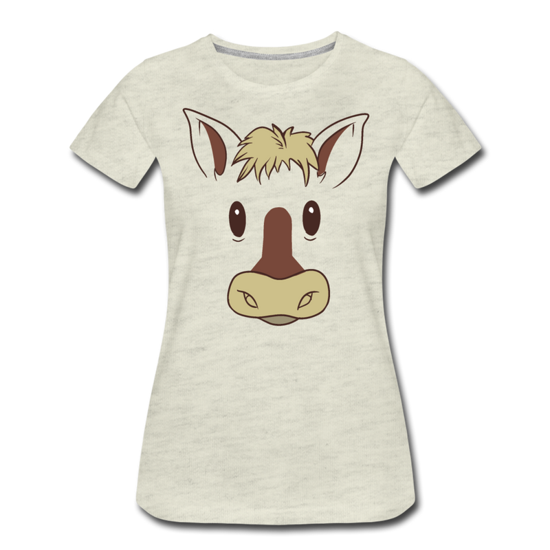 Horse Face T-shirt Women¡®s Premium Funny Graphic Animal Tee