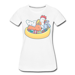 Easter Animals T-shirt Women's Premium Funny Graphic Chicken Tee