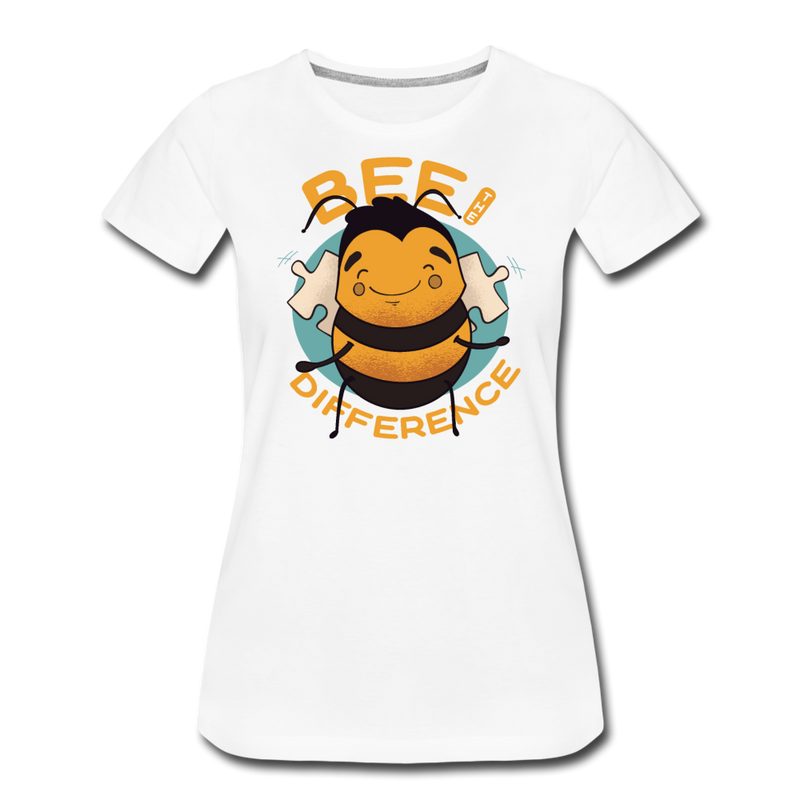 Bee The Difference T-shirt Women's Premium Funny Graphic Animal Tee