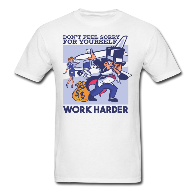 Work Harder T-shirt Men's Funny Graphic Tee