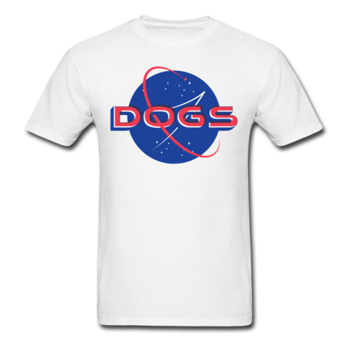 Space Dogs T-shirt Men's Funny Graphic Tee