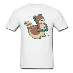 Gamer Ferret T-shirt Men's Funny Graphic Cartoon Tee