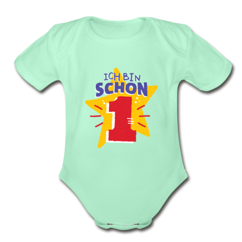 One Year Old T-shirt Organic Short Sleeve Baby Bodysuit