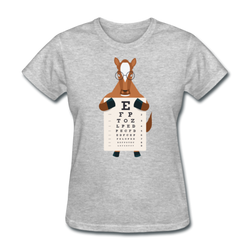 Horse Eye Chart T-shirt Women's Funny Graphic Animal Tee