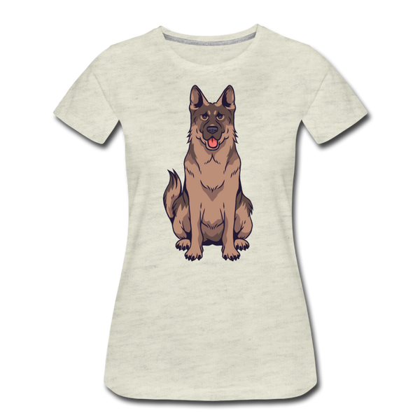German Shepherd Dog T-shirt Women¡¯s Premium Funny Animal Graphic Tee