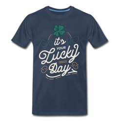 Lucky Day Lettering T-shirt Men's Premium Funny Graphic Tee