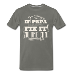 Papa Can Fix It T-shirt Men's Premium Funny Graphic Father Gift Tee
