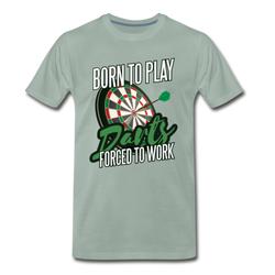Born To Play Darts T-shirt Men's Premium Funny Graphic Tee