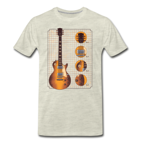 Gibson Guitar Details T-shirt Men's Premium Funny Graphic Tee