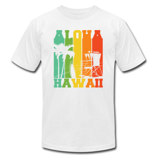 Aloha Hawaii Colorful T-shirt Unisex Jersey Summer Vacation Tee