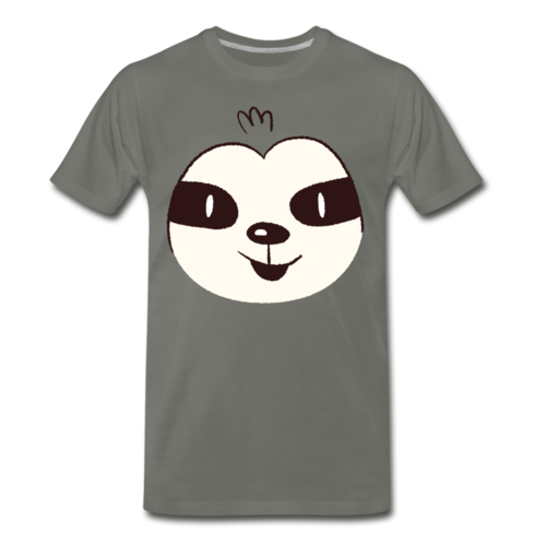 Cute Sloth Face T-shirt Unisex Funny Graphic Cartoon Tee