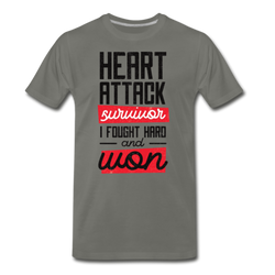 Heart Attack Survivor T-shirt Unisex Funny Graphic Tee