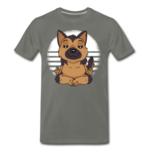German Shepherd Yoga T-shirt Unisex Funny Graphic Dog Tee