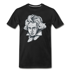Beethoven Face T-shirt Unisex Funny Graphic Tee