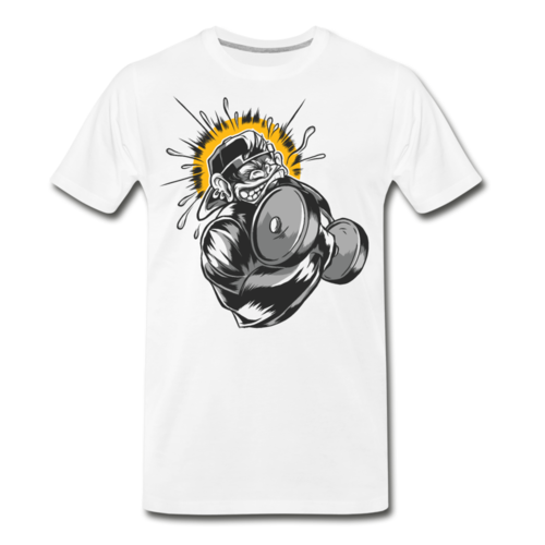 Monkey Dumbbell T-shirt Unisex Funny Graphic Tee