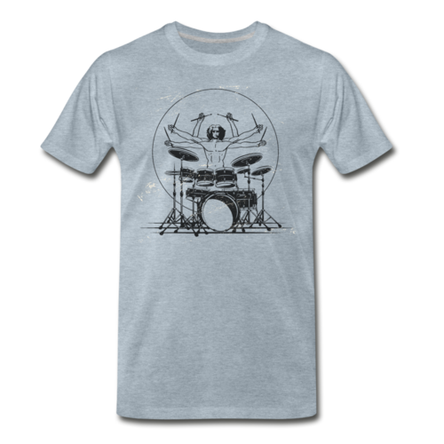 Drummer Playing T-shirt Unisex Funny Graphic Tee