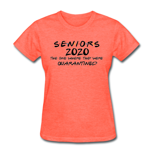 Seniors Friends Class of 2020 T-Shirt Women's Graduate Tee