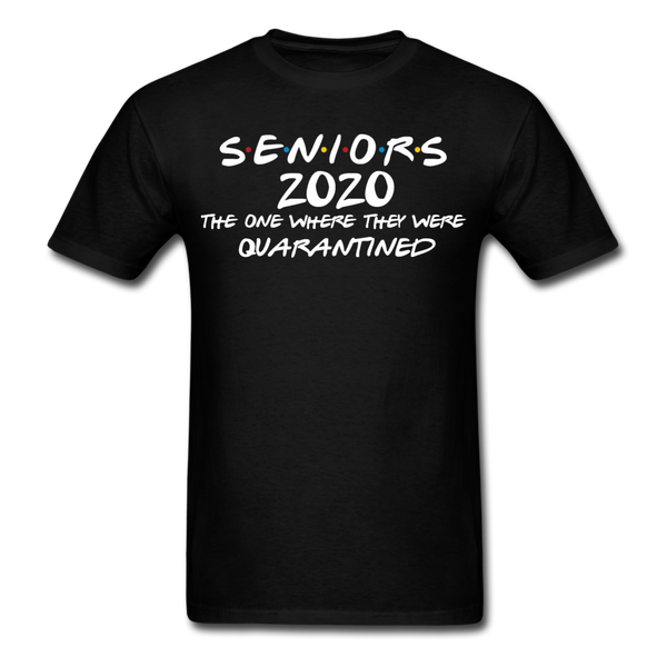 Black Seniors Friends Class of 2020 T-Shirt Unisex Graduate Tee