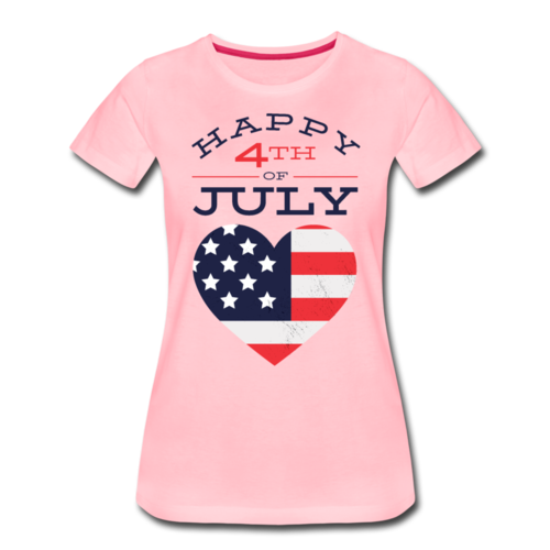 Happy 4th July T-shirt Women¡¯s Funny Graphic Holiday Tee