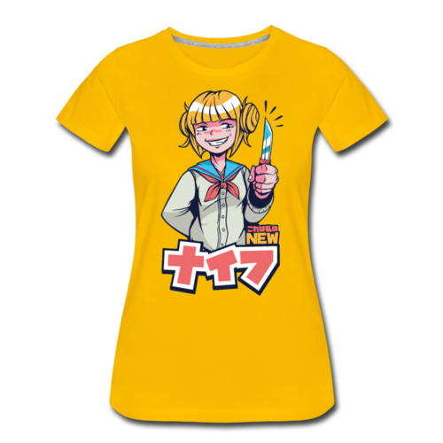 Japanese Anime Girl Knife T-shirt Women¡¯s Funny Graphic Tee
