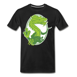 Japanese Green Dragon T-shirt Unisex Funny Graphic Tee