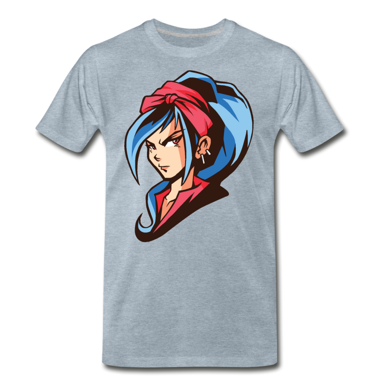 Anime Girl Blue Hair T-shirt Unisex Funny Graphic Tee